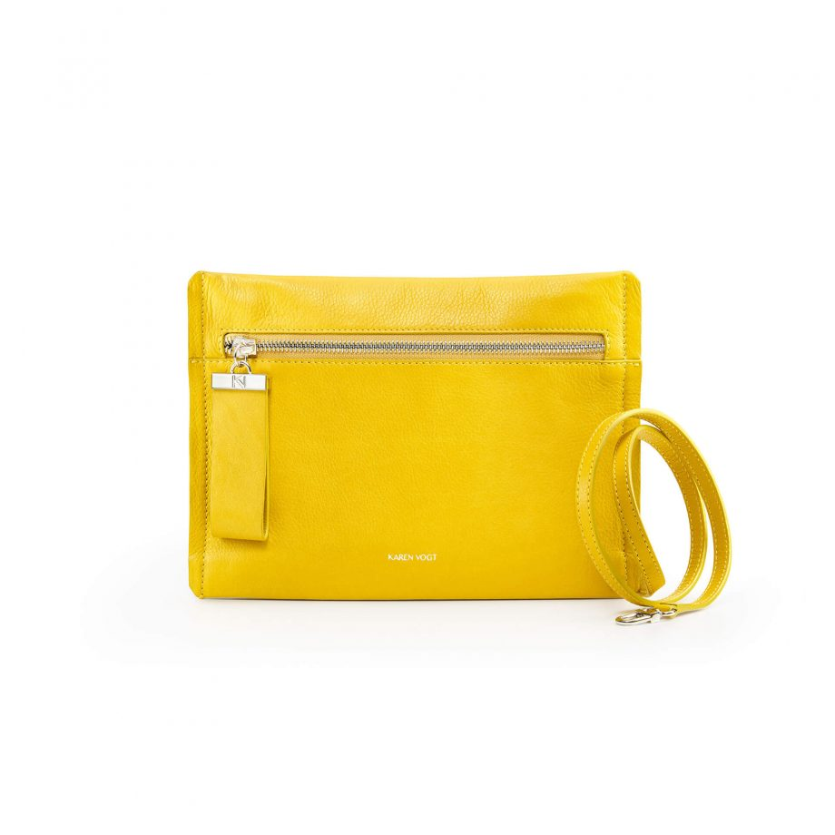 pochette-bandoulière-cuir-lisse-jaune-maïs-indécise-karenvogt-1