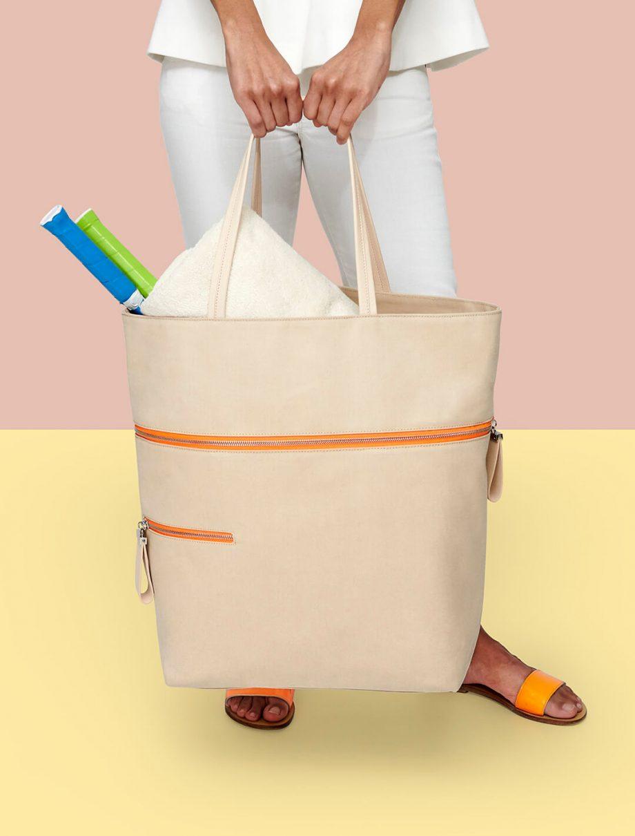 sac-voyage-toile-beige-zip-orange-téméraire-karenvogt-4