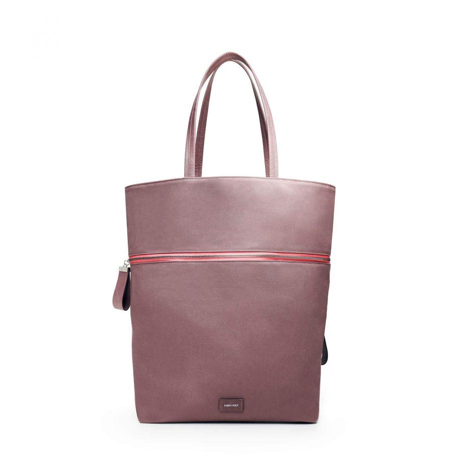 sac-voyage-toile-gris-rosé-zip-rose-téméraire-karenvogt-1