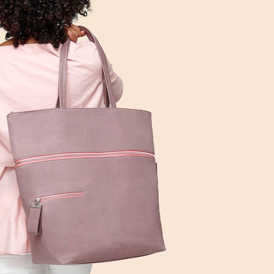 sac-voyage-toile-gris-rosé-zip-rose-téméraire-karenvogt-4