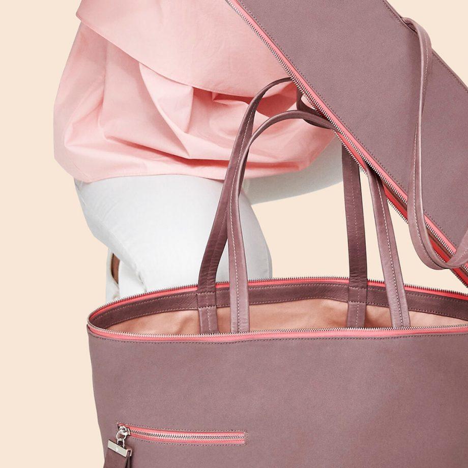 sac-voyage-toile-gris-rosé-zip-rose-téméraire-karenvogt-6