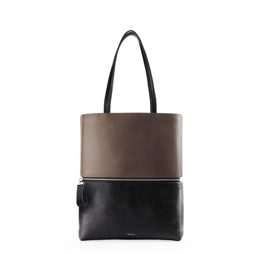 totebag-cuir-lisse-bicolore-marron-noir-impeccable-karenvogt-1