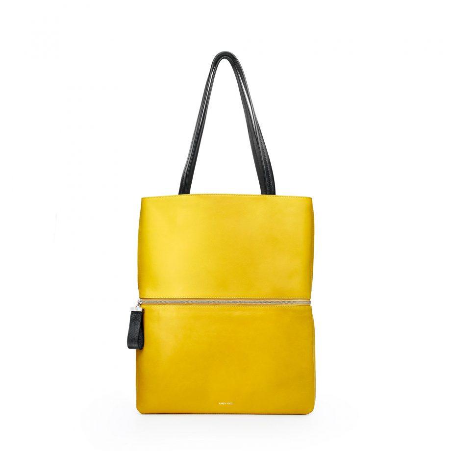 totebag-cuir-lisse-jaune-maïs-impeccable-karenvogt-1