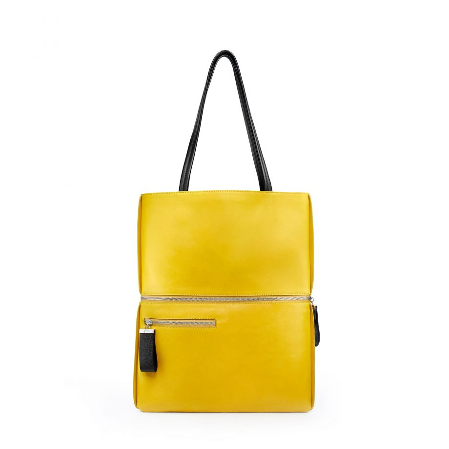 totebag-cuir-lisse-jaune-maïs-impeccable-karenvogt-2