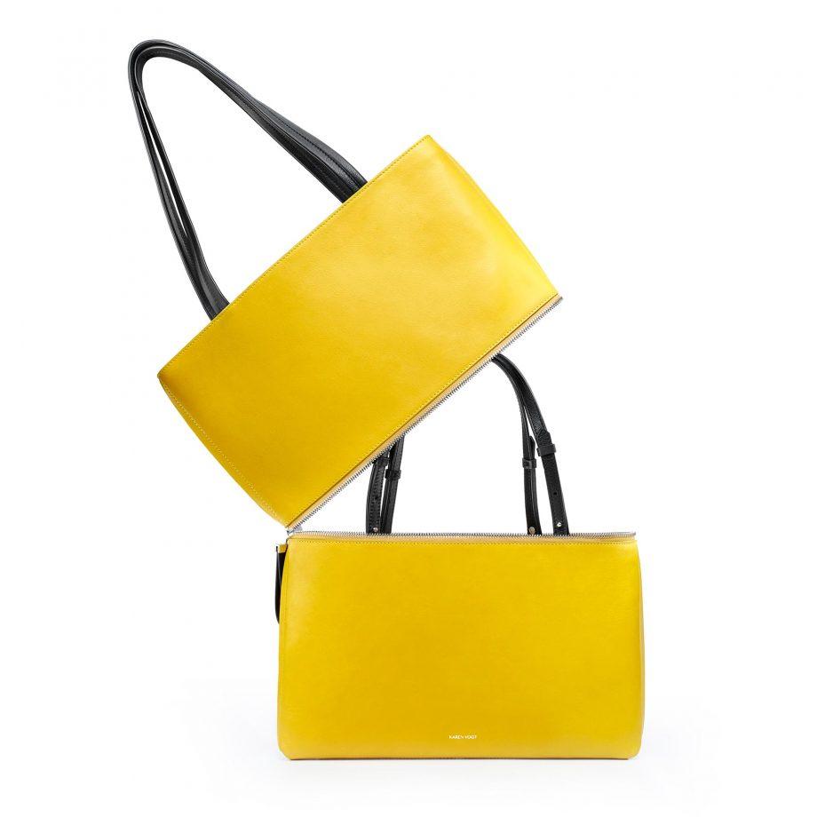 totebag-cuir-lisse-jaune-maïs-impeccable-karenvogt-3