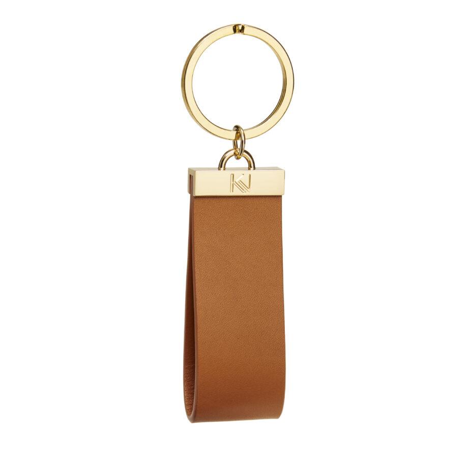 • porte-clés-cuir-lisse-tabac-metal-doré-ingénieux-karenvogt-1
