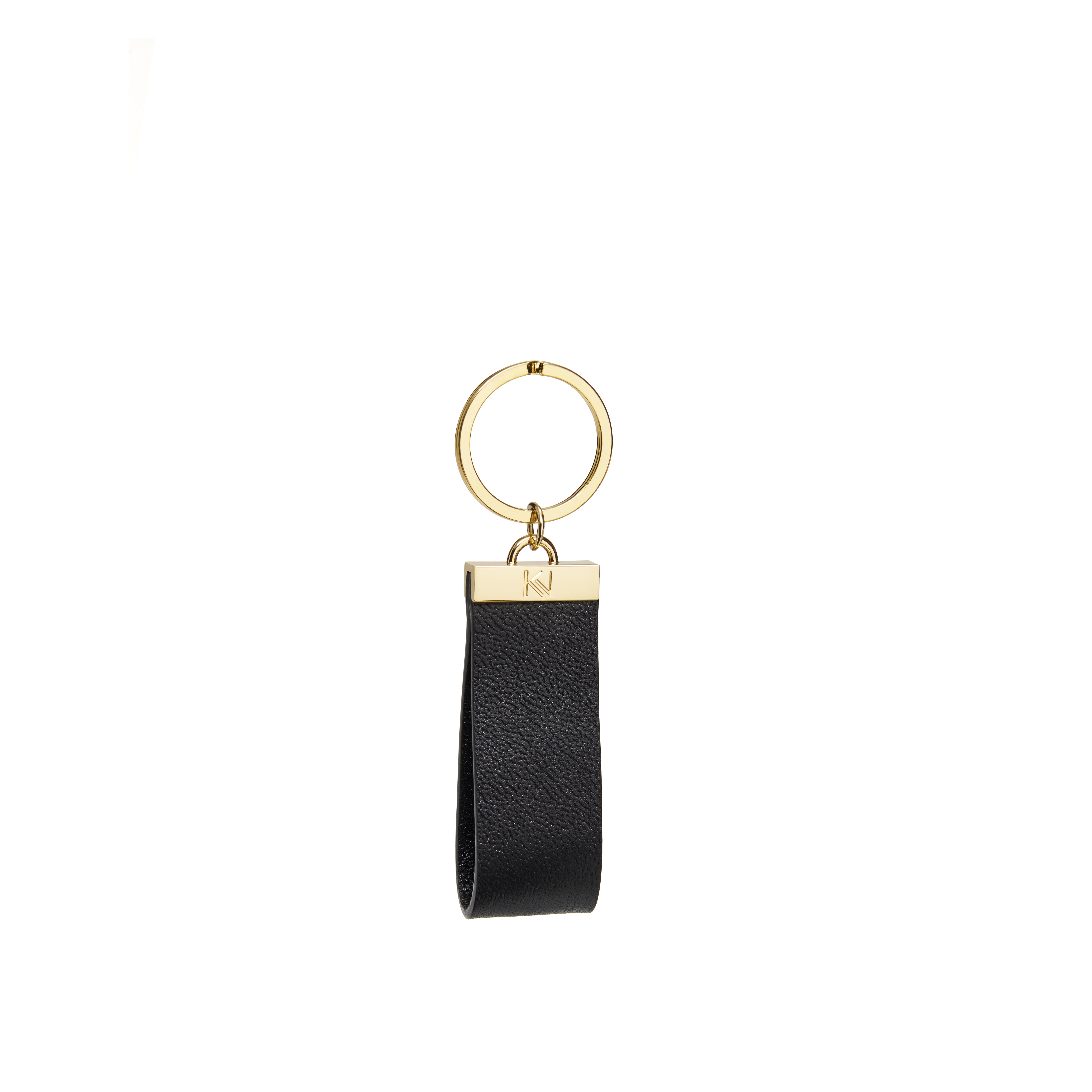 porte-clés-cuir-grainé-noir-gold-ingénieux-karenvogt-1